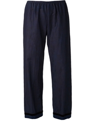 Dosa Straight Trousers Blue