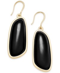 Charter Club Gold Tone Colored Shell Drop Earrings Only At Macy's Black