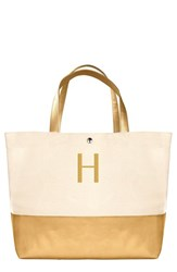 Cathy's Concepts Personalized Canvas Tote Metallic Gold H