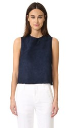 Vince Cropped Suede Shell Coastal