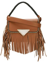 Sara Battaglia 'Amber' Shoulder Bag Brown