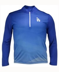 Majestic Men's Los Angeles Dodgers Good And Approved Half Zip Pullover Royalblue