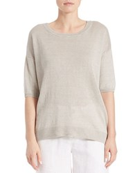 Lord And Taylor Oversized Boxy Pullover Dark Natural