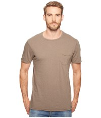 Joe's Jeans Chase Raw Edge Short Sleeve Crew Tropic Olive Men's Short Sleeve Pullover Brown