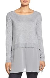 Women's Eileen Fisher Ballet Neck Ribbed Cashmere Sweater Moon