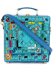 Olympia Le Tan 'Paris Game Board' Clutch Blue