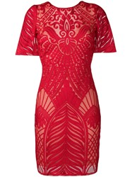 Galvan Atlas Mini Dress Red