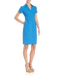 Nanette Lepore Slim Fit Shirt Dress Blue