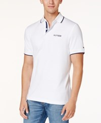 Tommy Hilfiger Men's Big And Tall Timothy Interlock Knit Polo Classic White