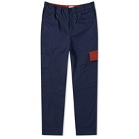 Kenzo Tapered Cropped Cargo Pant Blue