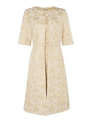 Shubette Two Piece Jacquard Dress And Jacket Champagne