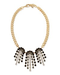 Lulu Frost Crystal Ombre Statement Necklace Black