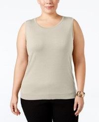 August Silk Plus Size Sleeveless Shell Ash Blonde