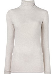 Majestic Filatures Turtleneck Longsleeved Blouse Nude And Neutrals