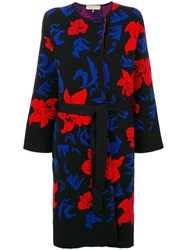 Emilio Pucci Knit Belted Overcoat Black