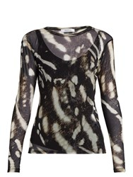 Max Mara Helga Top Brown Print