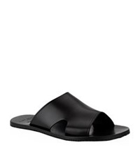 Kurt Geiger Kalil Leather Sandal Navy