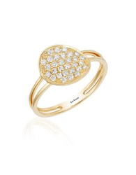 Levian 14K Yello Gold And Diamond Disc Ring Yellow Gold