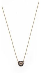 Kacey K Cutout Evil Eye Necklace Gold Black