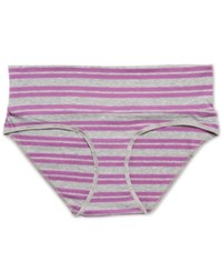 Motherhood Maternity Foldover Briefs Purple And Grey Stripe