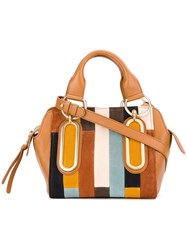 See By Chloe Patchwork Paige Tote Nude Neutrals