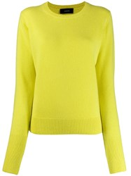 Joseph Crew Neck Jumper Yellow