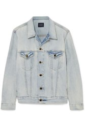 Khaite Cate Oversized Denim Jacket Blue