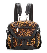 Alexander Wang Marti Mini Printed Leather Trimmed Backpack Brown