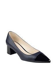 Nine West Dalzel Point Toe Cap Pumps Navy Blue Black