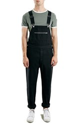 Men's Topman Black Denim Overalls