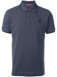Mcq By Alexander Mcqueen Patched Bird Polo Shirt Grey