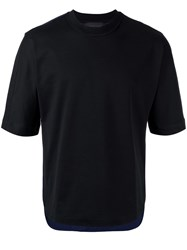Diesel Black Gold Asymmetric Bicolour T Shirt Black