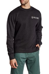 Volcom Lefter Crew Fleece Pullover Gray