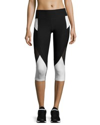 Marika Tek Ava Progressive Performance Capri Leggings Black White