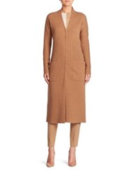 Akris Stretch Cashmere Knit Coat Camel Moonstone