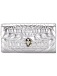 Bulgari Snake Motif Wallet Metallic