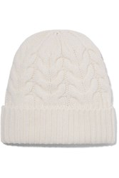 Jil Sander Cable Knit Wool Beanie Cream