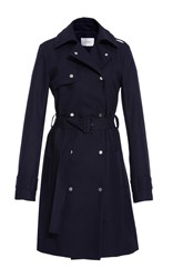 Carven Belted Trench Coat Navy