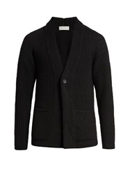 Tomorrowland Patch Pocket Wool Cardigan Black