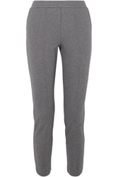 Alexander Wang T By French Cotton Terry Track Pants Gray