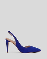 Reiss Pointed Toe Slingback Pumps Allie High Heel Serpentine