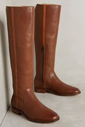 Anthropologie Farylrobin Michelle Riding Boots Brown