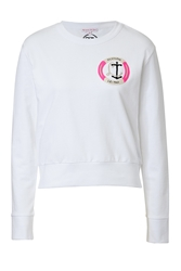 Olympia Le Tan Cotton Sweatshirt With Logo Embroidery