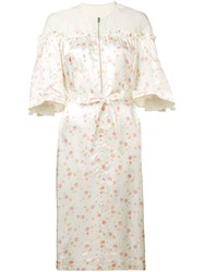 Golden Goose Deluxe Brand Floral Print Dress White