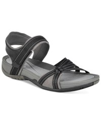 Bare Traps Sonya Flat Sandals Women's Shoes Black Grey