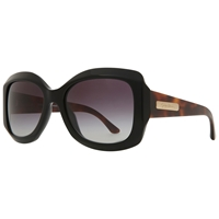 Giorgio Armani Ar8002 Oversized Thick Framed Square Sunglasses Black