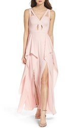 Bcbgmaxazria Women's 'Juliana' Georgette Fit And Flare Gown