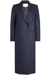 Lala Berlin Coat With Wool And Silk Blue