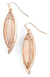 Kendra Scott Women's Drop Earrings Gold Dusted Glass Rose Gold