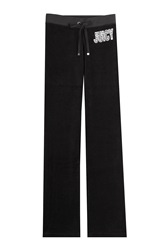 Juicy Couture Embellished Velour Track Pants Black